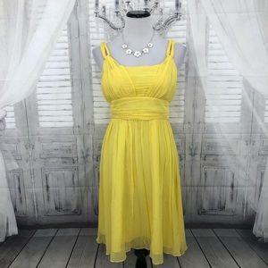 Banana Republic Silk Sundress Solid Yellow Size 4